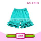 Baby Kids Solid color Shorts Comfortable green Toddler Girl Ruffle Shorts