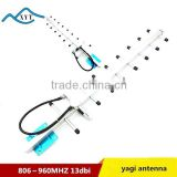 GSM 806-960MHZ 13DBI 9elements Outdoor digital TV yagi antenna with 3M cable