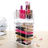 beautiful handmade custom clear acrylic lipstick holder case,acrylic lipstick organizer manufacturer