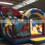 bounce house material four balloon inflatable bounce house bounce with slide