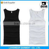 Professional factory cheap price high quality customized OEM service export 100 cotton tank top