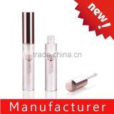 Newest round clear plastic lip gloss tube with applicator
