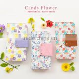 Flower pattern wallet cover for cell phone