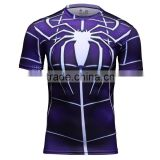 Amazing Spider Logo Shirt Marvel Lycra Compression Fitness Tees Wholesale In-stock Superhero T Shirt
