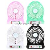 Portable mini hand held 18650 battery operated fan, table usb fan