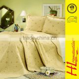 Competitive price embroidery quilt bedding set,wholesale quilt bedspread patchwork,microfiber quilt with pillow
