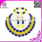 China supplier costume jewelry coral beads necklace jewelry sets princess elegant beads for Christmas gift or party