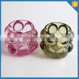 colorful crystal glass bubble gem candle holder