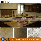 Custom artificial polished brown granite silk stone countertops                                                                         Quality Choice