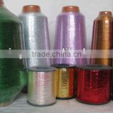 China metallic yarn factory gold and silver and mixed color metallic threading for embroidery and knitting