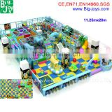 Big size playsets indoor/adult and kids commercial indoor soft playground for home