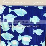 Reactive Printed Towel With Cute Animal Velour Towel