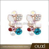 OUXI wholesale crystal fake diamond stud earring 21366-2