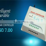 10amp 12v 24v 48v solar charge controller LCD Display remote control fishing bait boat Auto-recognize for Easy Control