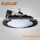 Casting aluminum body 150w UFO type high bay led light with MW driver factory price