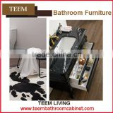 Teem home bathroom furniture Classic luxury bathroom cabinet white shoe cabinet furniture