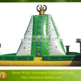 2016 hot sale inflatable water rock climbing wall/inflatable pool slide with climbing wall