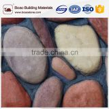 Manufactured cobble stone tiles