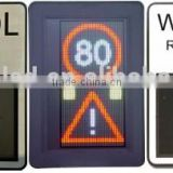 Solar power outdoor IP65 LED variable speed limited sign
