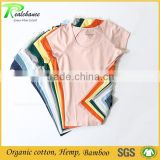 Garment factory bamboo cotton raglan t shirt blank or custom t shirt printing