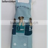 No.1 yiwu commission agent wanted dog animal printed blue color kitchen Apron for Cooking