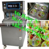 commercial snack box sealing machine/food plastic wrap sealing machine/vacuum food disposable bowl sealing machine