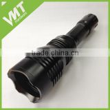 Black Anodised Aluminum extention battery tube for outdoor flashlight