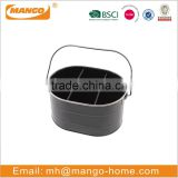 Black color galvanized picnic ice bucket