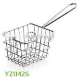 China Manufacture production stainless steel deep Fryer Basket&mini fry basket &stainless steel deep frying basket