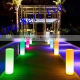 Party or wedding event used led illuminated pillar/ colorfull changable led light up pillar in different size