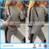 Two Piece Set Women Tracksuits Sportsuit 2016 Autumn Ladies Zipper Split Hooded Sweatshirts