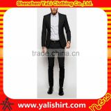 Wholesale brand quality comfortable office cheap wool/polyester fancy men slim fit suits