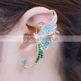 Cute Butterfly Rhinestone Ear Cuff Clip Cartilage piercing Earring