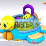 2016 lovely inflatabl cartoon turtle combo small indoor inflatable combos in inflatable bouncer for kid