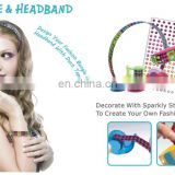DIY fashion bangle and headbands set for kids