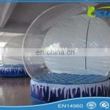 Durable Transparent Inflatable Snow Globe With Artificial Snow For Yard Decorations/Christmas Inflatable Snow Globe