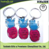 Fruit store promotion gift metal keychain stailess steel key chain for print photo and letter