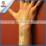 Flash Tattoos Temporary Metallic Tattoo Gold Silver Black Necklace Removable
