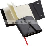 PU leather cover 70sheets wallet notebook with bookmark band NOTEBO911