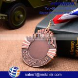 custom art and craft antique gold running medal with ribbons sport medal hanger award jiu-jitsu medal