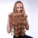 10-32inch Bouncy Curl Chocolate Brazilian Blonde Curly Human Hair 12 Inch