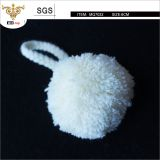 High quality 6cm fluffy pom pom,  be used for keyring decoration and bags charm