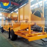 Low Price 2018 Mobile Mini Gold Wash Trommel Plant, Gold Trommel Plant