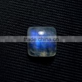 Blue Fire Rainbow Moonstone Square Cabochon Gemstone / Cabs Gemstone