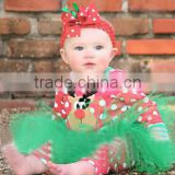 long sleeve cotton baby girls christmas dresses MY-IA0018