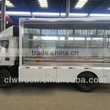 Best price Foton led advertising screen truck 3-side mobile led screen stage truck for sale in Peru
