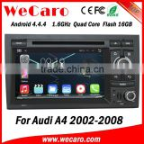 Newest 7 inch android car dvd player for audi A4 S4 RS4 2002-2008 dashboard GPS navigator TV Radio tuner CD Player