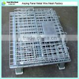 Zinc plated steel welded wire mesh pallet cage