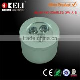 3W barrel shape surface mounted led ceiling light with taiwan chip
