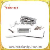 Full set chrome color electric guitar single shake violin bridge/tremolo system/ tailpiece